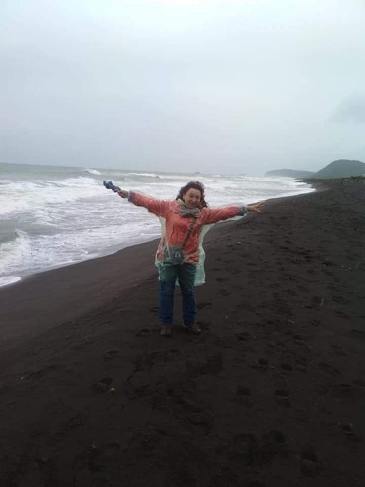 Тихий океан. Пляж